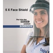 5 X Máscara Face Shield Profissional