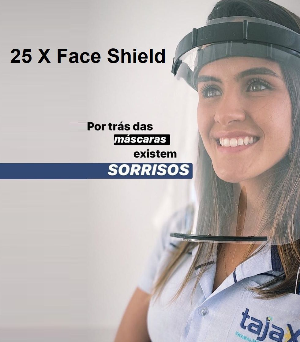 25 X Máscara Face Shield Profissional