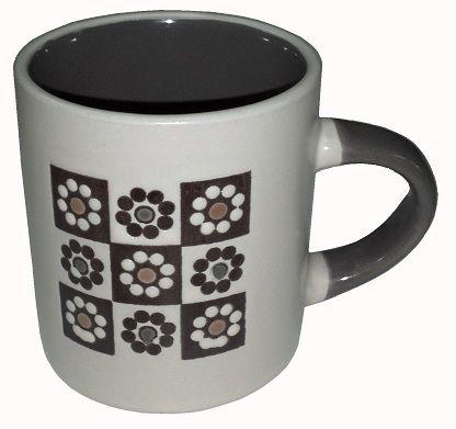 Mini Caneca Cerâmica Mosaico.