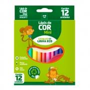 12 Estojos de Lápis de Cor Eco Mini Sextavado 12 Cores Leo e Leo