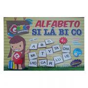 Alfabeto Silábico em Madeira 150 Peças Brinquedo Educativo Carlu