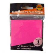 Bloco Adesivo 76x76mm Rosa 100 Folhas Jocar Office