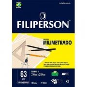 Bloco Milimetrado A4 63g 50 folhas Filiperson