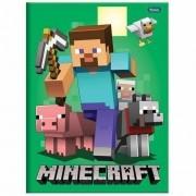 Caderno Brochura 1/4 CD 96 Folhas Minecraft 1 Foroni