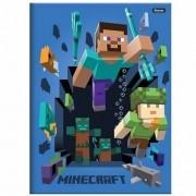 Caderno Brochura 1/4 CD 96 Folhas Minecraft 3 Foroni