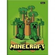 Caderno Brochura 1/4 CD 96 Folhas Minecraft 5 Foroni