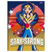 Caderno Brochurão Capa Dura 96 Folhas Foroni DC Super Hero Girls 3