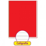Caderno Caligrafia Brochurão CD 48F Vermelho Tamoio