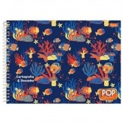 Caderno de Cartografia e Desenho CD 96 Folhas Pop Collection Foroni
