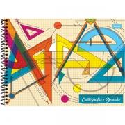 Caderno de Cartografia e Desenho CD 96F Milimetrado Foroni