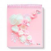 Caderno Universitário 10x1 CD 160 Folhas Flip Pastel 3 Tamoio