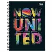 Caderno Universitário 10x1 CD 160 Folhas Now United 2 Tilibra