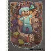 Caderno Universitário 10x1 CD 200 Folhas Minecraft 2 Foroni