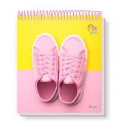 Caderno Universitário 1x1 CD 80 Folhas Flip Pastel 4 Tamoio
