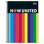 Caderno Universitário 1x1 CD 80 Folhas Now United 3 Tilibra