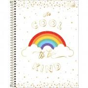 Caderno Universitário 1x1 CD 80 Folhas Rainbow 2 Tilibra