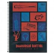 Caderno Universitário 1x1 CD 80 Folhas Stranger Things 3 Tilibra