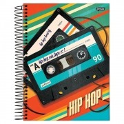 Caderno Universitário 1x1 CD 96 Folhas Hip Hop 2 Jandaia