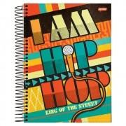 Caderno Universitário 1x1 CD 96 Folhas Hip Hop 4 Jandaia