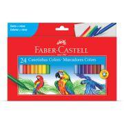 Caneta Hidrográfica 24 Cores Faber Castell