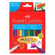 Caneta Hidrográfica Magic 10 Cores + 2 Mágicas Faber Castell