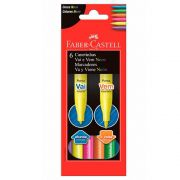 Caneta Hidrográfica Vai e Vem Neon 6 Cores Faber Castell