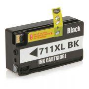 Cartucho Compatível HP 711XL CZ133A T520 T120 CQ890A CQ891A CQ893A - Preto