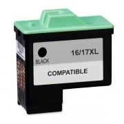 Cartucho de tinta Lexmark 16/17XL 10N0016/10N0217 - Preto - Compatível
