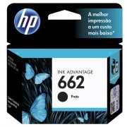 Cartucho HP 662 Preto Original CZ103AB p/ HP 1015 1510 1518 2516 2546 2646 3516