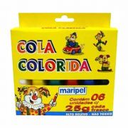 Cola Colorida 6 Cores Maripel