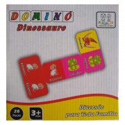 Dominó Dinossauro 28 Peças Tafeplas