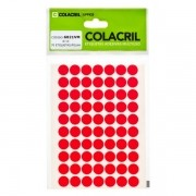 Etiqueta Adesiva Redonda 13mm Vermelha 6 Folhas Colacril