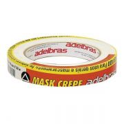 Fita Crepe Mask 710 Adelbras Branca 18mm x 50m