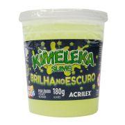 Kimeleka Slime Brilha no Escuro 180g Amarelo Fosforescente Acrilex