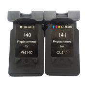 Kit Cartucho Compatível Canon PG-140 CL-141 MX371 MX431 MX451 MX511 MX521