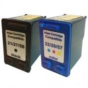 Kit Cartucho de Tinta HP 27XL 28XL - Compatível
