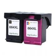 Kit Cartucho Compatível HP 664XL p/ HP 2136 2676 3776 5076 5276