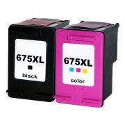 Kit Cartucho Compatível HP 675XL HP 4000 HP 4400 HP 4575