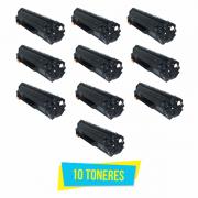 Kit com 10 Toner Compatível HP CE285A 85A 285A CE285AB P1102 P1102W M1132 M1210 M1212 M1130