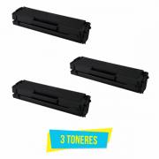 Kit com 3 Toner Compatível Samsung MLT-D101S D101S D101 ML2160 ML2165 SCX3400 SCX3405 SF760