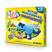 Kit de Massinhas Dinossauros 150g Azul Acrilex