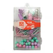 Kit Office Pastel Trend Clips Alfinetes e Prendedores Jocar Office