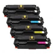 Kit Toner Compatível HP 410X CF410X CF411X CF412X CF413X M452DN M452DW M452NW M477FDN M477FDW