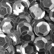 Lantejoula Prata Metalizada 10mm 2g Real Seda