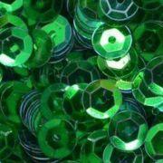 Lantejoula Verde Metalizada 10mm 2g Real Seda