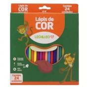 Lápis de Cor Redondo 24 Cores Leo e Leo