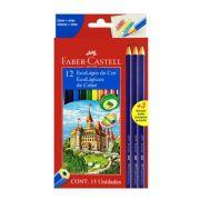 Lápis de Cor 12 Cores + 3 Lápis Grafite Faber Castell