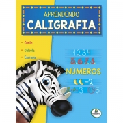 Livro Infantil Aprendendo Caligrafia Números Brasileitura