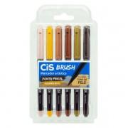 Marcador Artístico Brush Aquarelável 6 Tons de Pele Cis