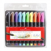 Marcador Supersoft Brush 10 Cores Faber-Castell